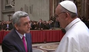 Serzh Sargsyan congratulated Pope Francis for his second year of pontificate