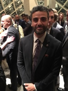 Oscar Isaac wears forget-me-not at Armenian Genocide film premiere at Toronto festival