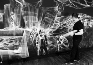 New York-based Armenian artist uses smoke to explore the fragility of life and death
