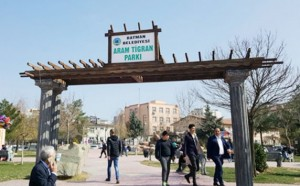 The name of Armenian-Kurdish musician erased on a park sing in Turkey