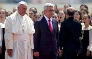 Armenia's President congratulates Pope on 5th anniversary