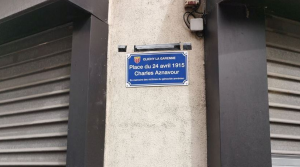 Charles Aznavour square inaugurated in Clichy, France