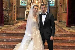 Armenian international footballer Henrikh Mkhitaryan gets married at St. Lazarus Island