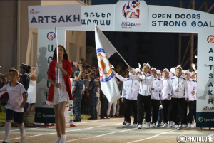 The opening ceremony of CONIFA European Cup held in Stepanakert
