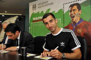 Armenia issues stamp honoring Henrikh Mkhitaryan
