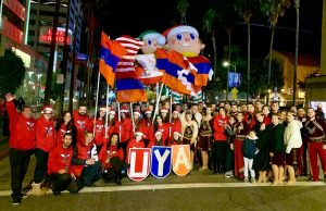 Unified Young Armenians march at annual Hollywood Christmas Parade