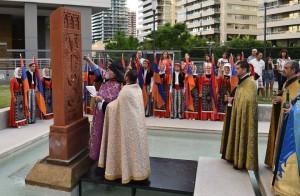 Se realizó el acto de unción del «Jachkar» de Vicente López