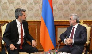 Garo Paylan fue recibido por el presidente de Armenia, Serge Sarkisian