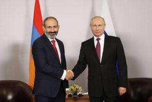 Pashinyan se reunió con Putín en San Petersburgo