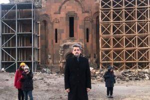 (Español) Garo Paylan en Aní, antigua capital histórica de Armenia