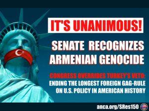 El Senado de Estados Unidos reconoce por unanimidad el Genocidio Armenio